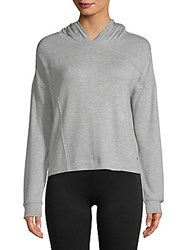 Andrew Marc New York Heathered Cropped Hoodie Grey