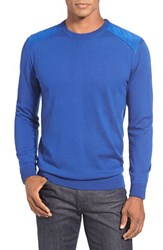 Men's Bugatchi Merino Wool Crewneck Sweater Blue