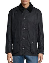 Barbour Waxed Cotton Jacket Navy