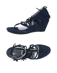 Andrea Morelli Toe Strap Sandals Dark Blue