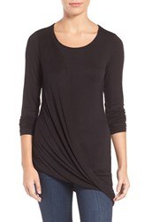 Kut From The Kloth Women's Jerrica Asymmetrical Draped Tee