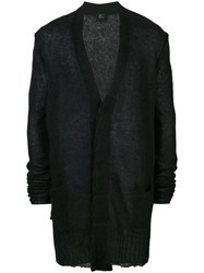 Lost And Found Ria Dunn Ribbed Detail Cardigan Men Linen Flax Nylon Mohair Wool Xs Black