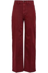 Vince. Woman Cropped High Rise Wide Leg Jeans Brick