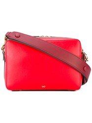 Anya Hindmarch Stack Shoulder Bag Women Calf Leather One Size Red