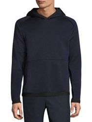 Theory Ormond Solid Hooded Sweatshirt Eclipse