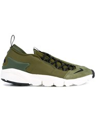 Nike Air Footscape Nm Sneakers Men Leather Nylon Rubber 8.5 Green