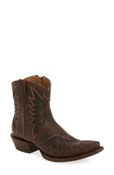 Ariat Women's Andalusia Collection Santos Western Boot Weathered Brown Leather