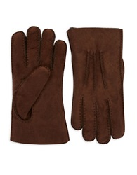 Ugg Mens Shearling Gloves Brown