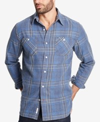 Weatherproof Vintage Men's Plaid Flannel Shirt Storm