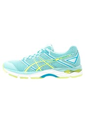Asics Gelphoenix 8 Stabilty Running Shoes Aqua Splash Safety Yellow Diva Blue Turquoise