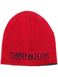 Tommy Jeans 90'S Beanie Hat Cotton Acrylic Red