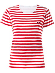 Societe Anonyme Striped T Shirt Red