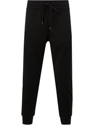 Attachment Cropped Drawstring Track Pants Black