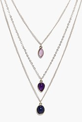 Boohoo Grace 3 Stone Layered Necklace Gold