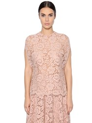 Valentino Cotton Blend Lace Top