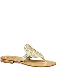 Jack Rogers Georgica Sparkle Thong Sandals Platinum