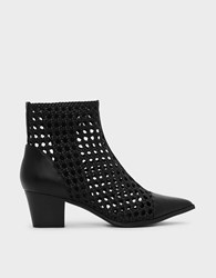 Charles And Keith Braid Detail Ankle Boots Black