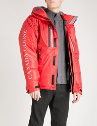 Canada Goose Skreslet Hooded Shell Down Parka Jacket Red Rouge