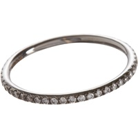 Diamond And Oxidized White Gold Band