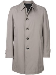 Dell'oglio Straight Fit Buttoned Coat Cotton Polyester Nude Neutrals