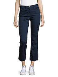 3X1 Cropped Boot Cut Jeans Rinse