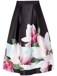 Ted Baker Magnolia Stripe Skirt Navy
