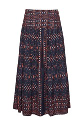 Great Plains Tarim Ladder Lace Maxi Skirt Red