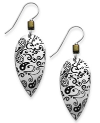 Jody Coyote Silver Plated Brass Earrings Antique Teardrop Earrings