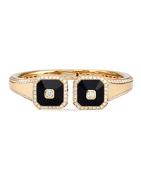 18K Pyramide Onyx And Diamond Bangle Maria Canale For Forevermark Black