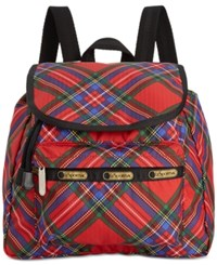 Le Sport Sac Lesportsac Small Edie Backpack Cozy Plaid Red