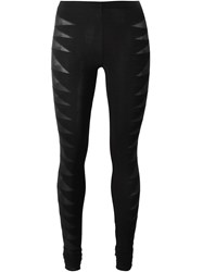 Rick Owens Lilies Sheer Effect Leggings Black