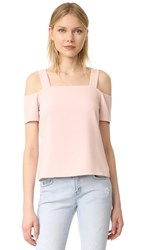 Cooper And Ella Ava Cold Shoulder Top Pale Pink
