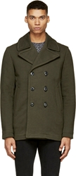 Rag And Bone Green Double Breasted William Peacoat