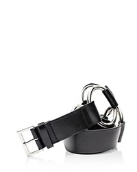 Zadig And Voltaire Circle Leather Belt Black