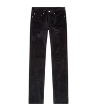 Sandro Slim Corduroy Trousers Blue