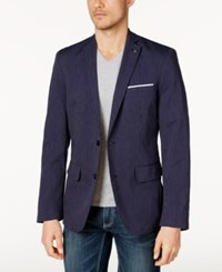 Inc International Concepts Men's Classic Fit Pinstriped Blazer Created For Macy's Basic Navy