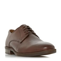 Howick Barbery Textured Gibson Lace Up Shoes Brown