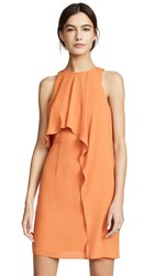 Halston Heritage Sleeveless High Neck Dress Sunset