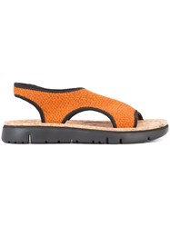 Camper Slingback Sandals Yellow Orange