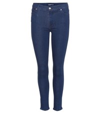 7 For All Mankind The High Waist Skinny Crop Jeans Blue