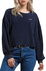 Volcom Recommended 4 Me Puff Sleeve Tee Sea Navy