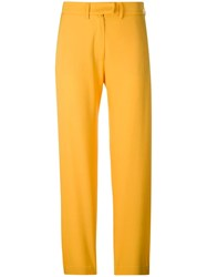 House Of Holland Tailored Trousers Yellow And Orange