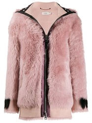 Coach Hooded Jacket Pink
