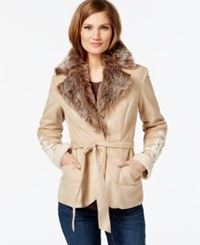 Inc International Concepts Faux Fur Embroidered Jacket Only At Macy's Light Camel