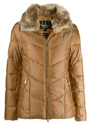 Barbour Fur Lined Jacket Neutrals