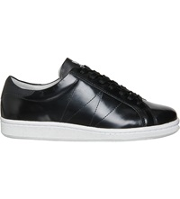 Wood Wood Bo Leather Trainers Black