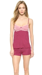 Honeydew Intimates Emma Dottie Pajama Set Maraschino Wafer