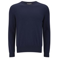 Knutsford Men's Crew Neck Cashmere Sweater Navy Blue