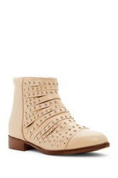 Summit By White Mountain Graycen Genuine Leather Stud Bootie Beige
