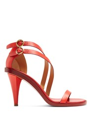 Chloe Niko Leather Sandals Red